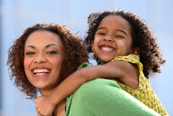 African American Mother with Daughter